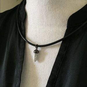 Handmade leather cord necklace